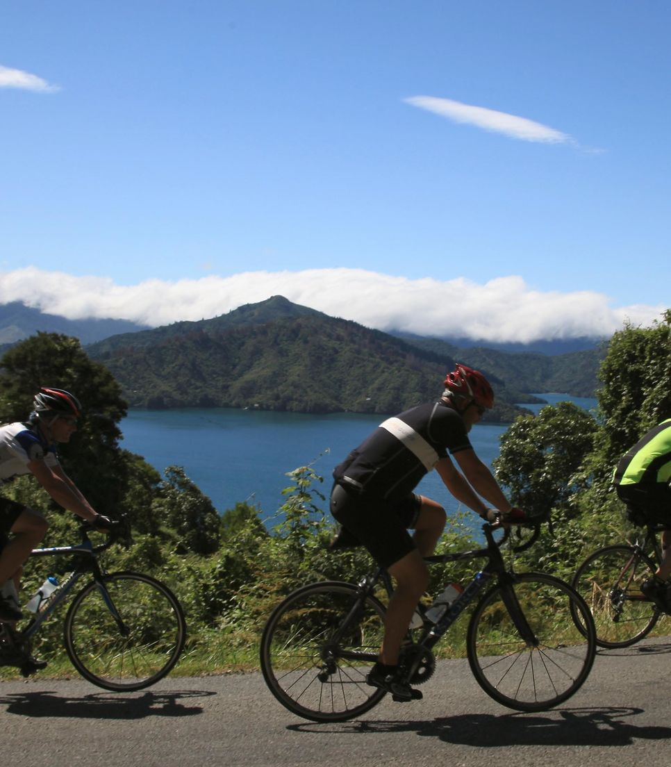 Every day brings new landscapes and experiences as you enjoy the road cycling through NZ