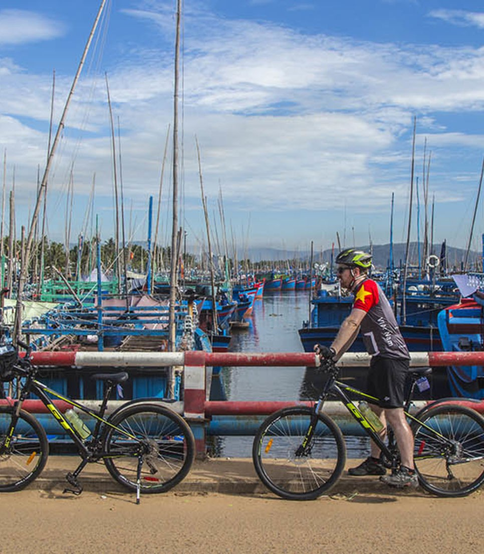 Visit fishing villages and hop on a boat to the port town of Hoi An