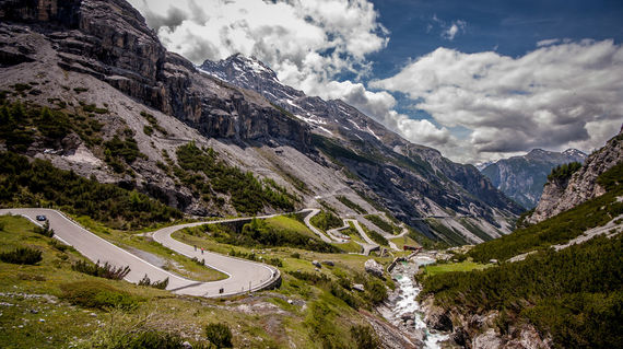 Cycle one of the highest roads in the Alps