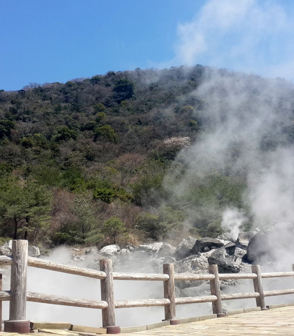 Relax in Beppu's hot springs and