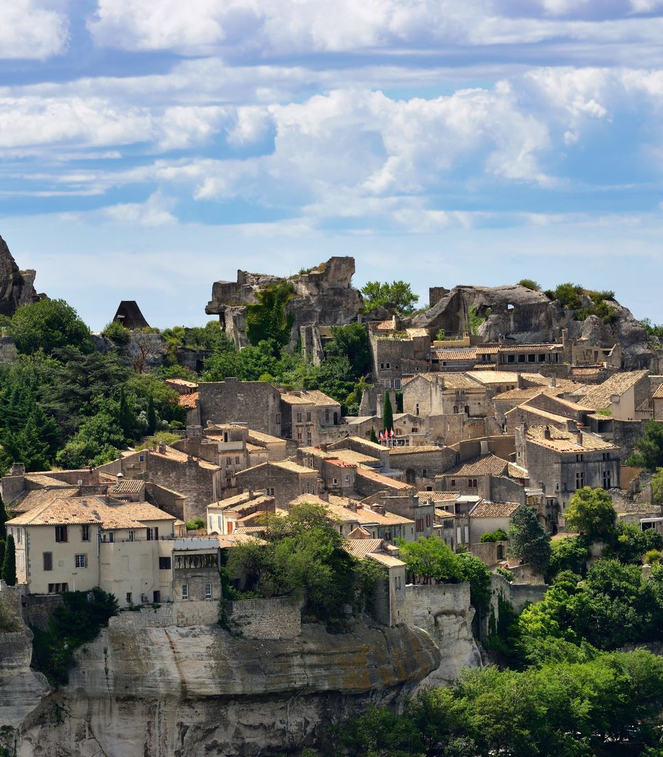 Cycle to the hilltop village of Les Baux on day 6