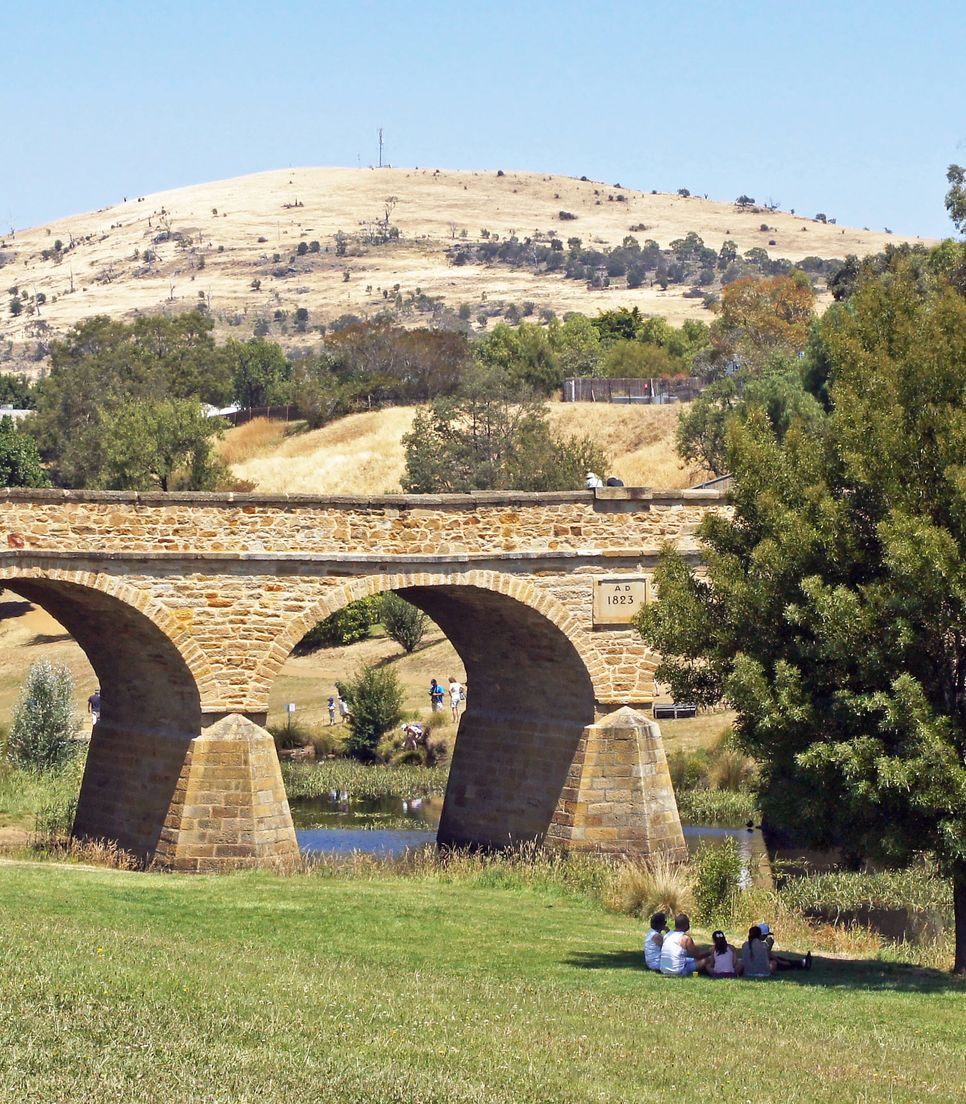 Spend the first night in the historic town of Richmond and visit the oldest bridge in Australia