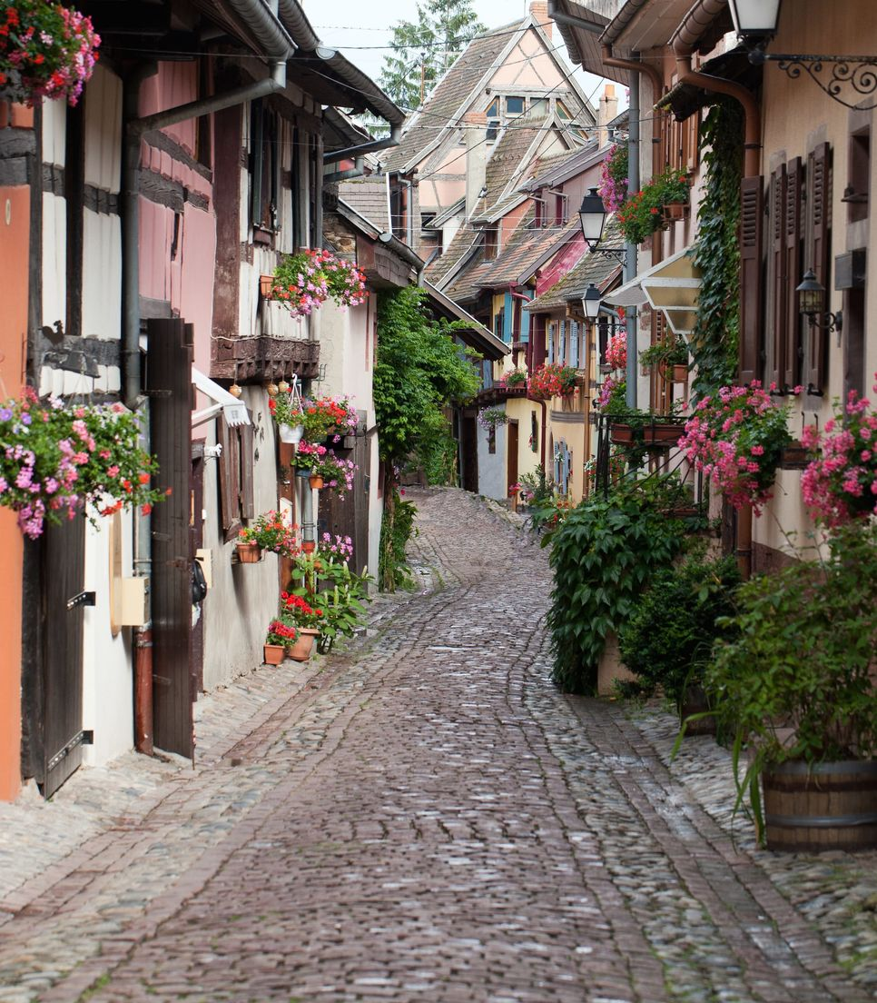 The quaint village of Eguisheim provides a welcome rest stop on day 4