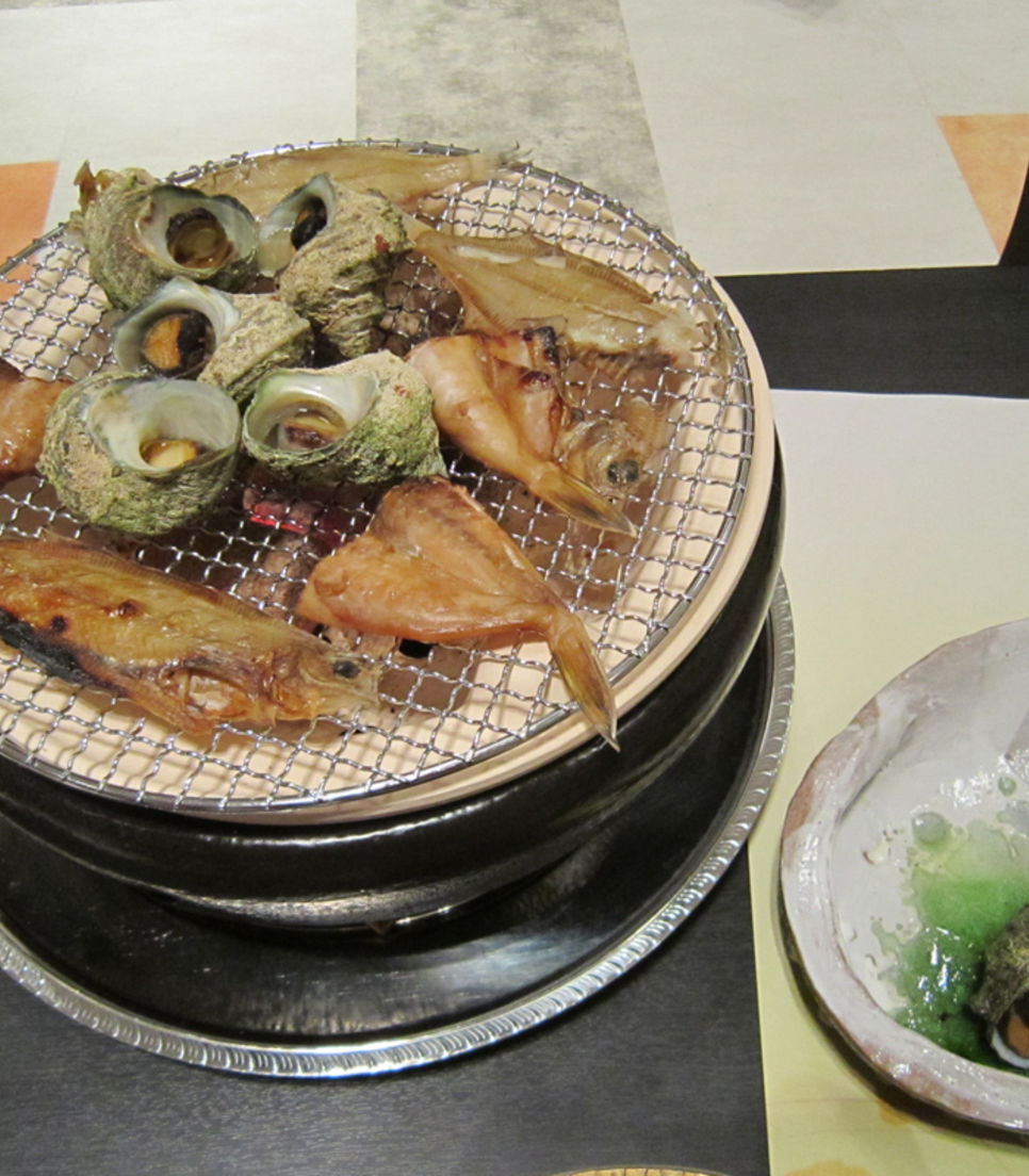 Savor delicious seafood prepared the Japanese way which have been caught in Noto's abundant waters.