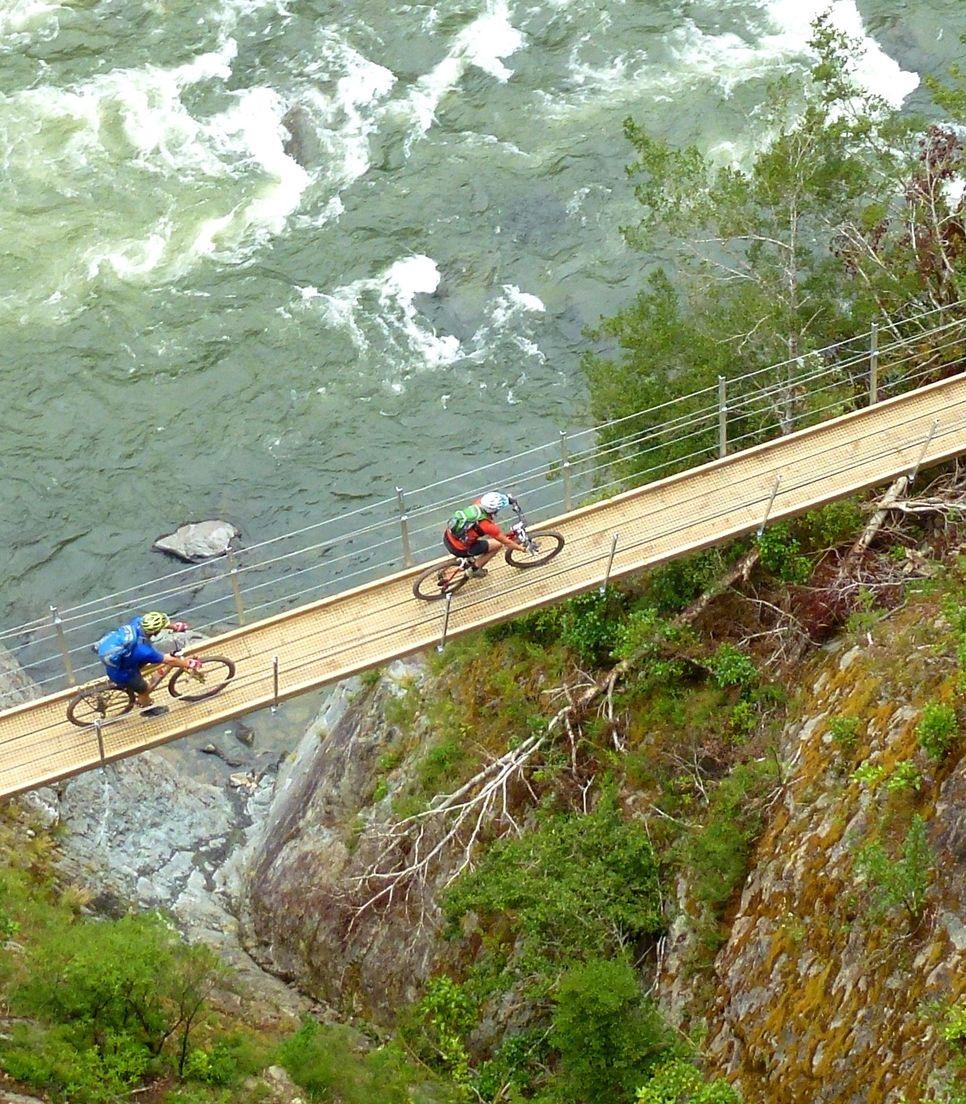 Great biking through stunning landscapes