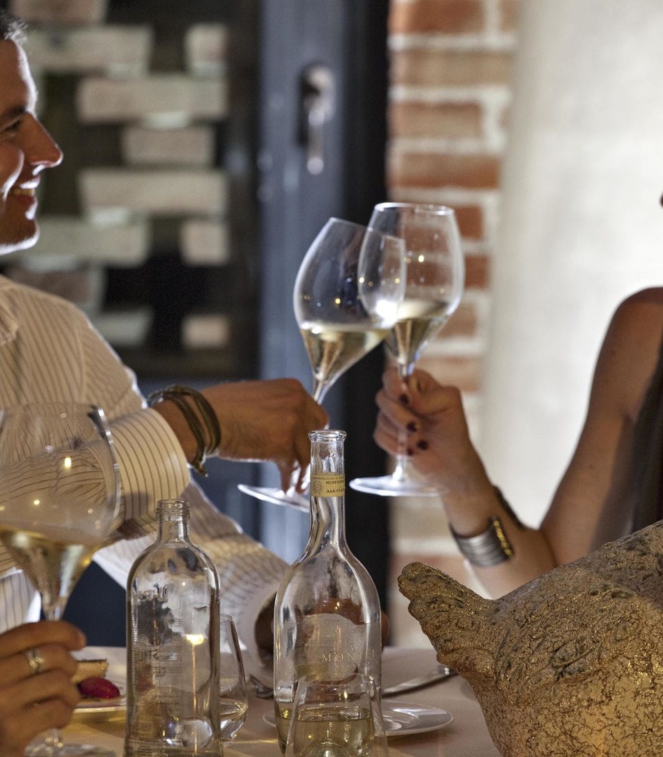 As part of the tour you'll visit two wine estates and also enjoy a wine tasting course