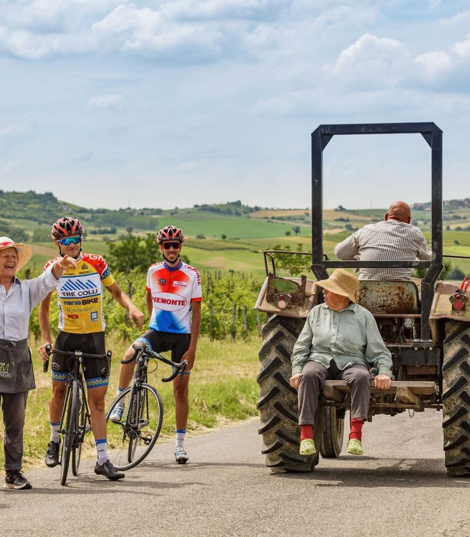 Enjoy meeting the characters of the region as you cycle through