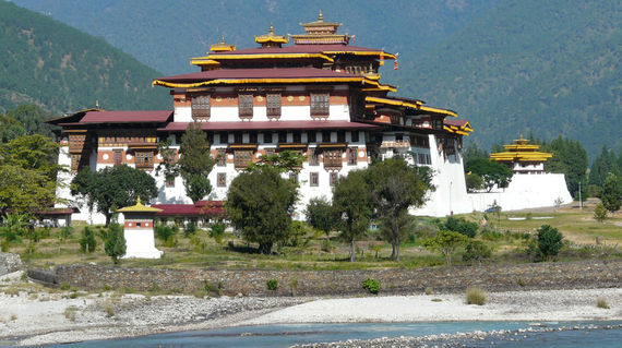 One of the most impressive Dzongs (fortresses) in Bhutan.