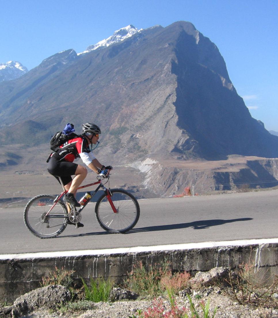 Challenging uphill rides await