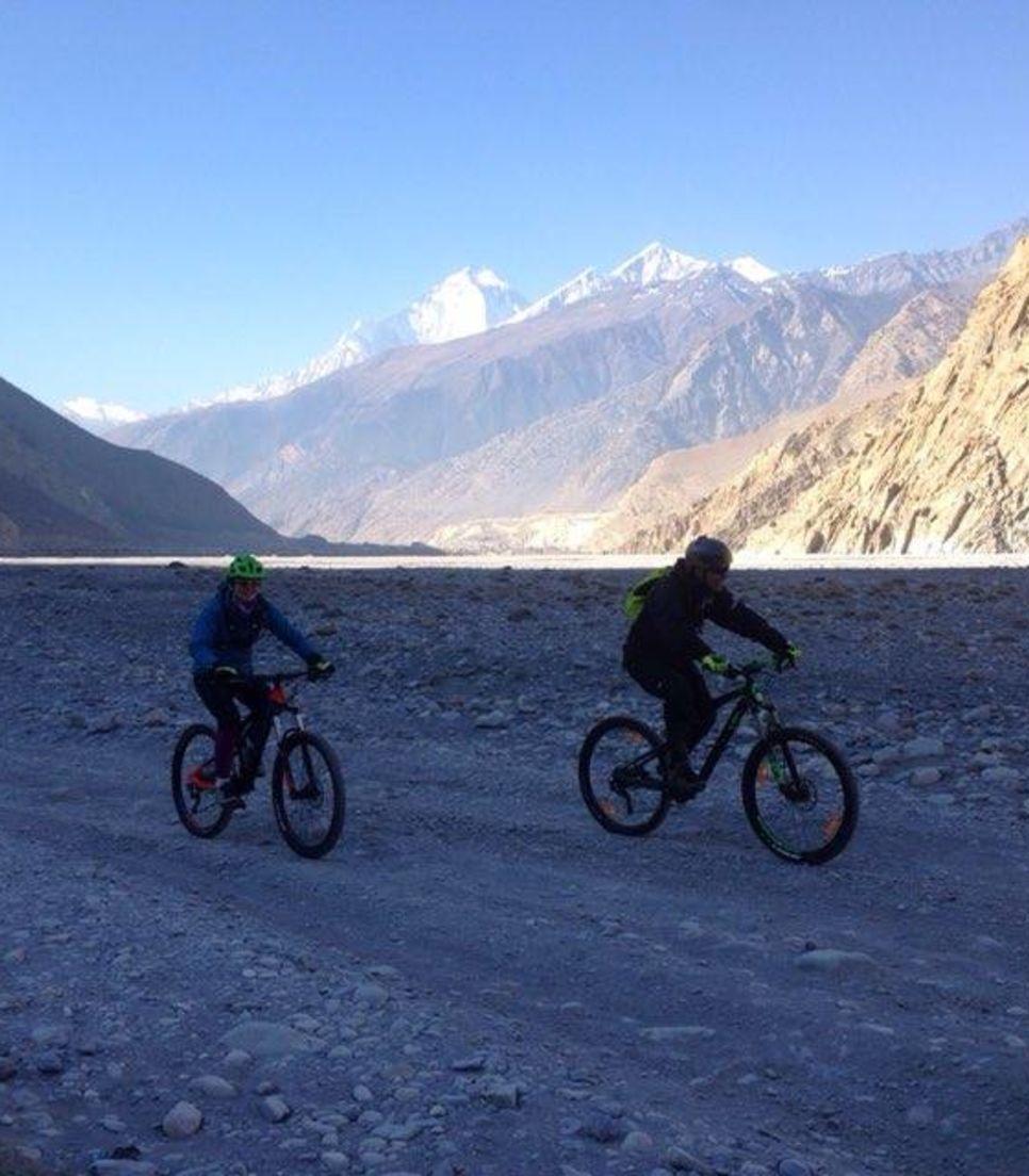 Bike through a variety of terrain during this epic trip