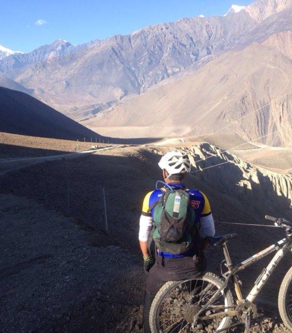 Reach amazing heights as you bike the highest trail in the world