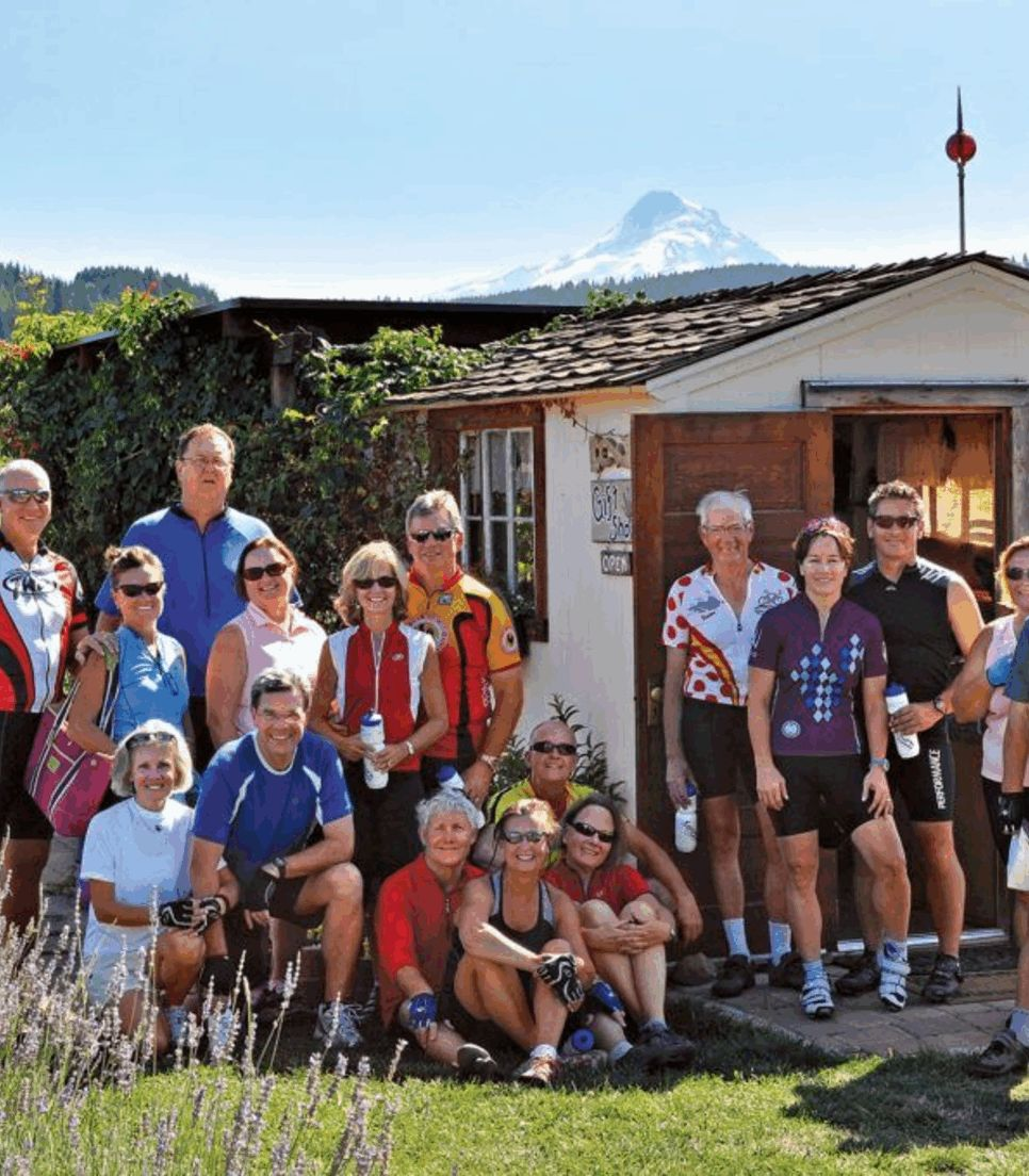 Experience the comraderie and joy of traveling in a small cycle group