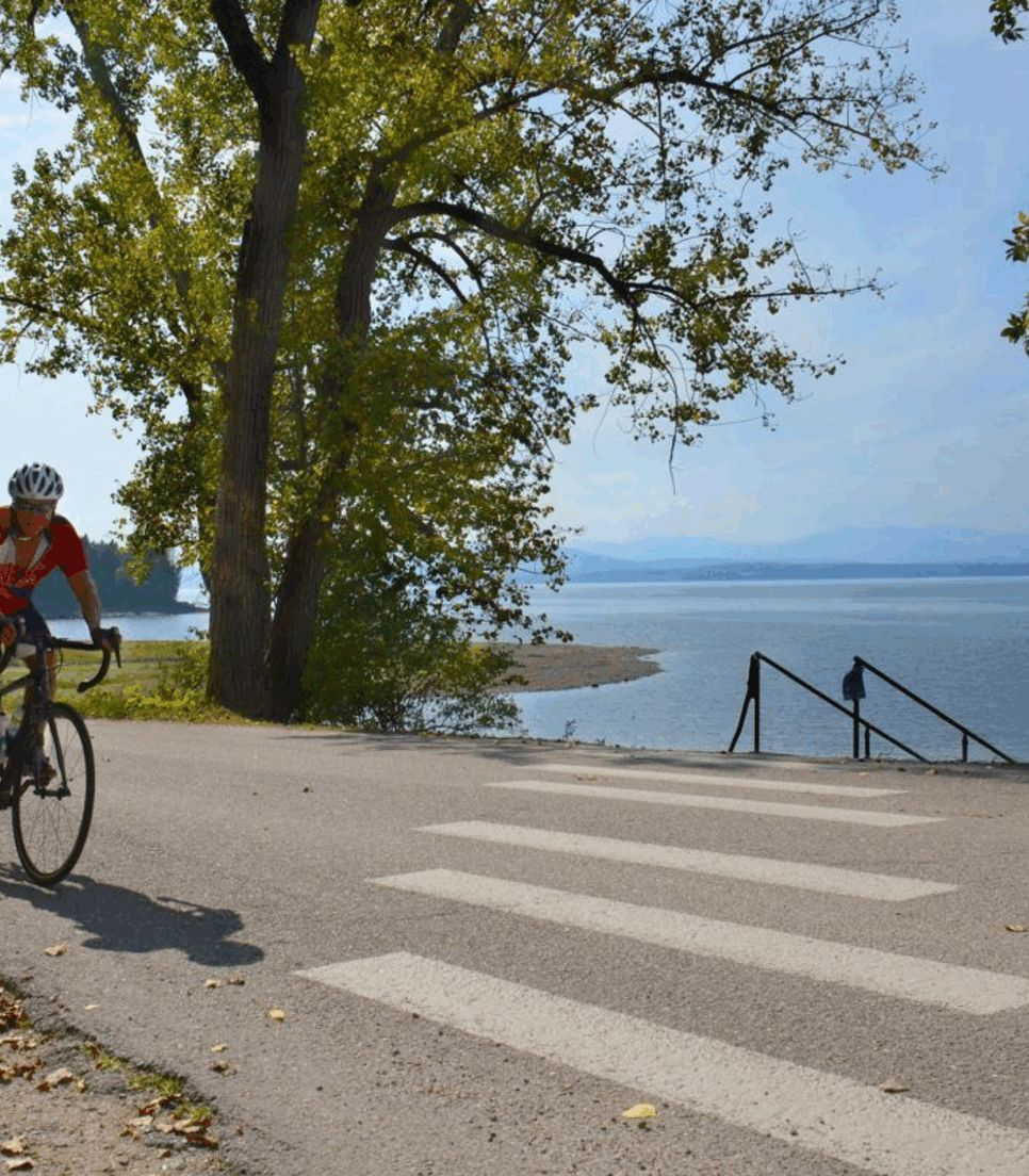 Experience fantastic biking and peaceful views