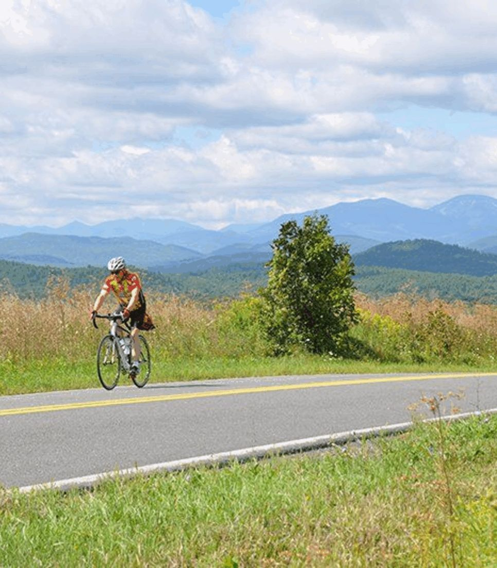 Soak up the Vermont greenery as you cycle through the region