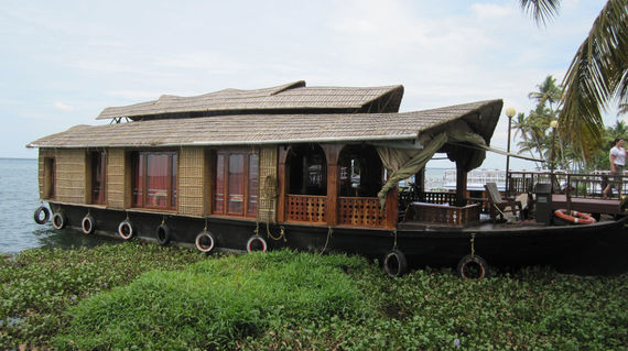 Relax and cruise in a houseboat - a converted rice barge kitted out for a comfortable stay