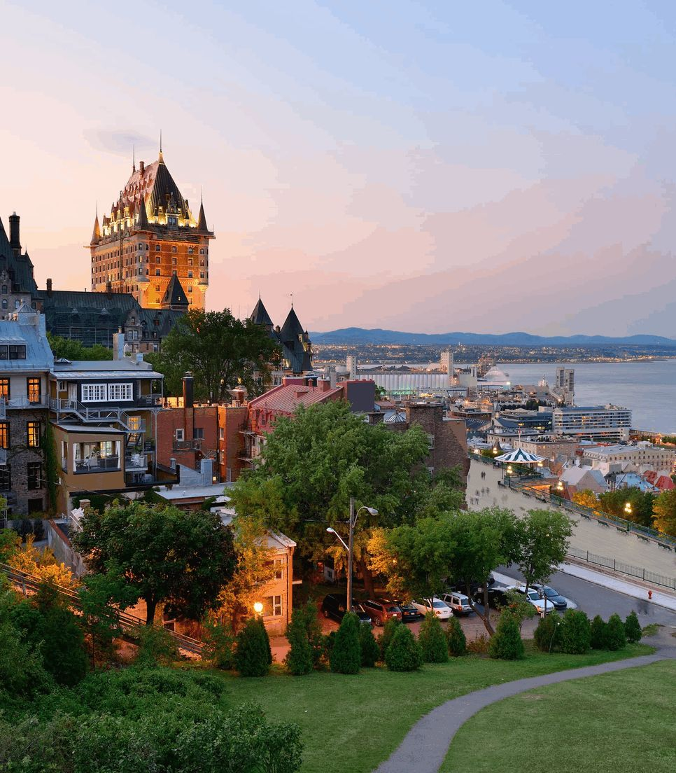 Head to the historic Quebec City to spend several days exploring its charms