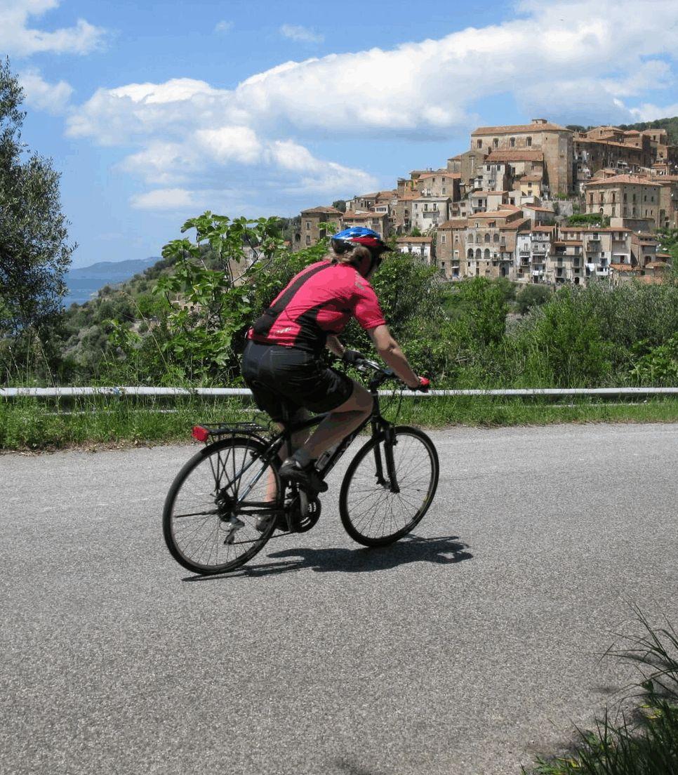 Pedal along quiet roads with ancient vistas