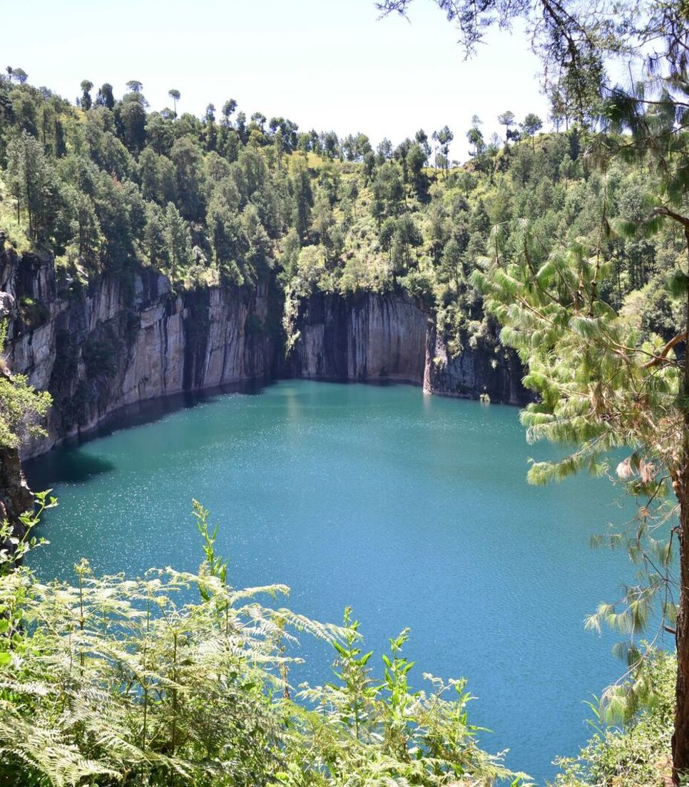 Discover this beautiful crater lake on day 3