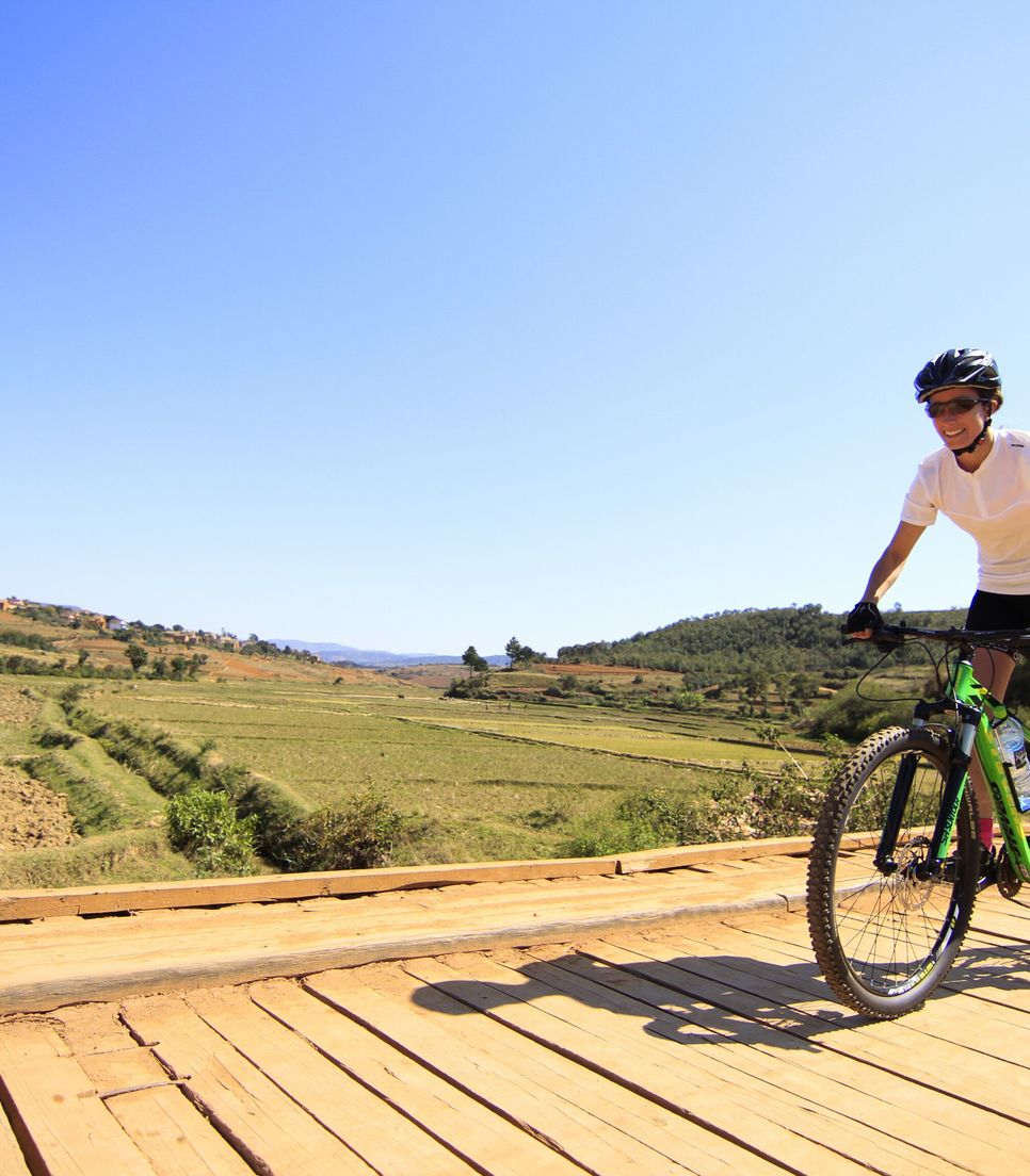 Experience riding over a variety of terrain on this diverse tour