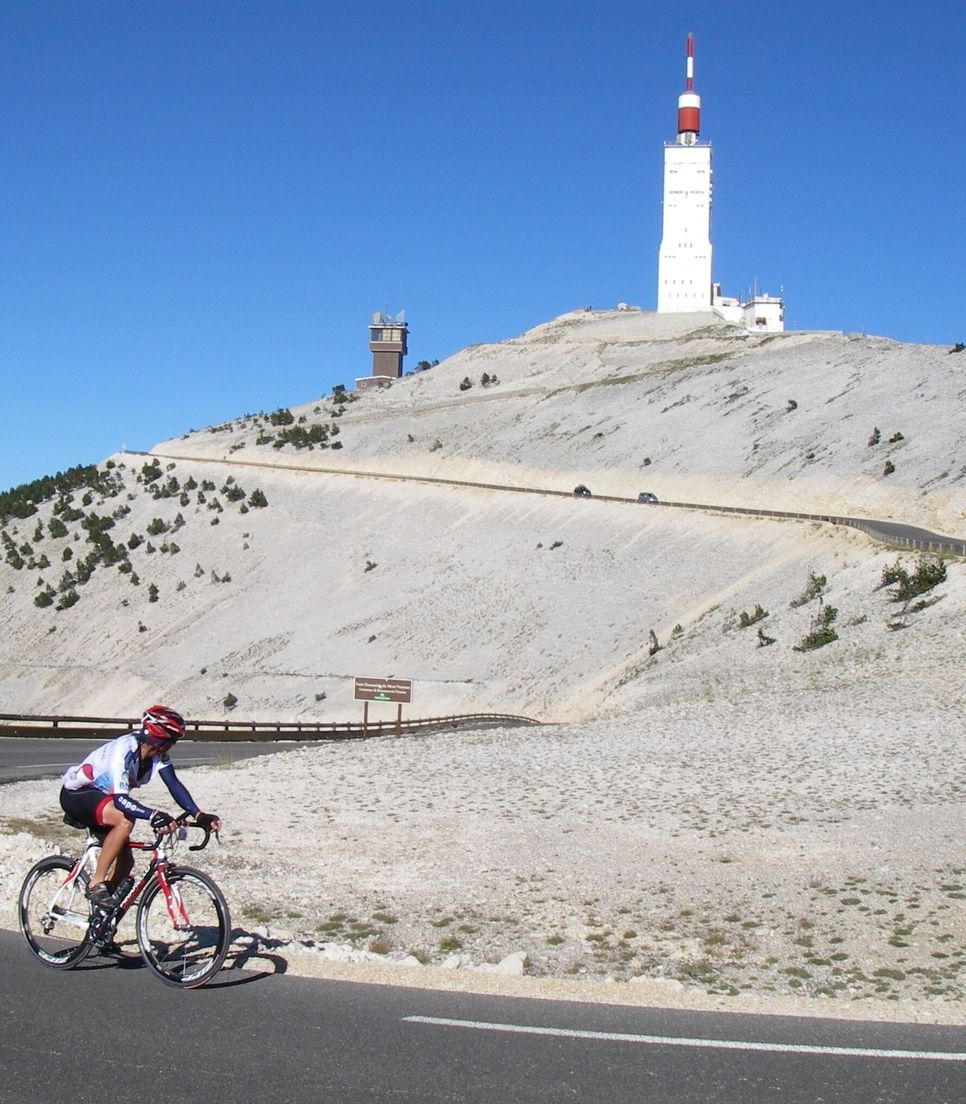 Decide whether to take up the challenge of an optional ride up Mont Ventoux