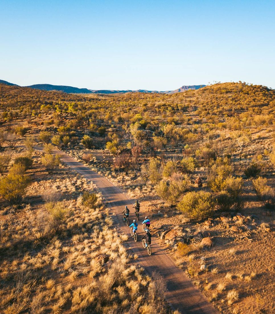 Discover the outback wilderness by bike