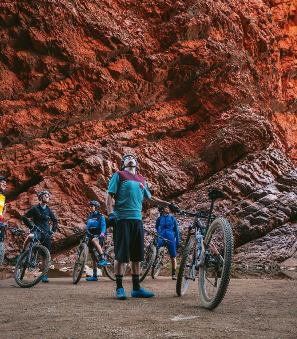 Cycle tour the rich colors and landscapes of the outback