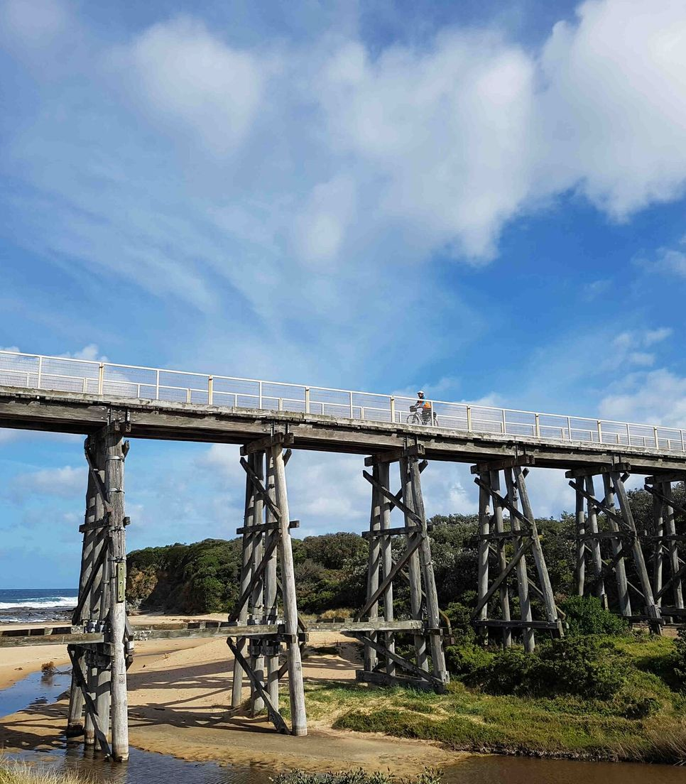 Cycle the stunning scenery of this region including the awesome trestle bridges along the route