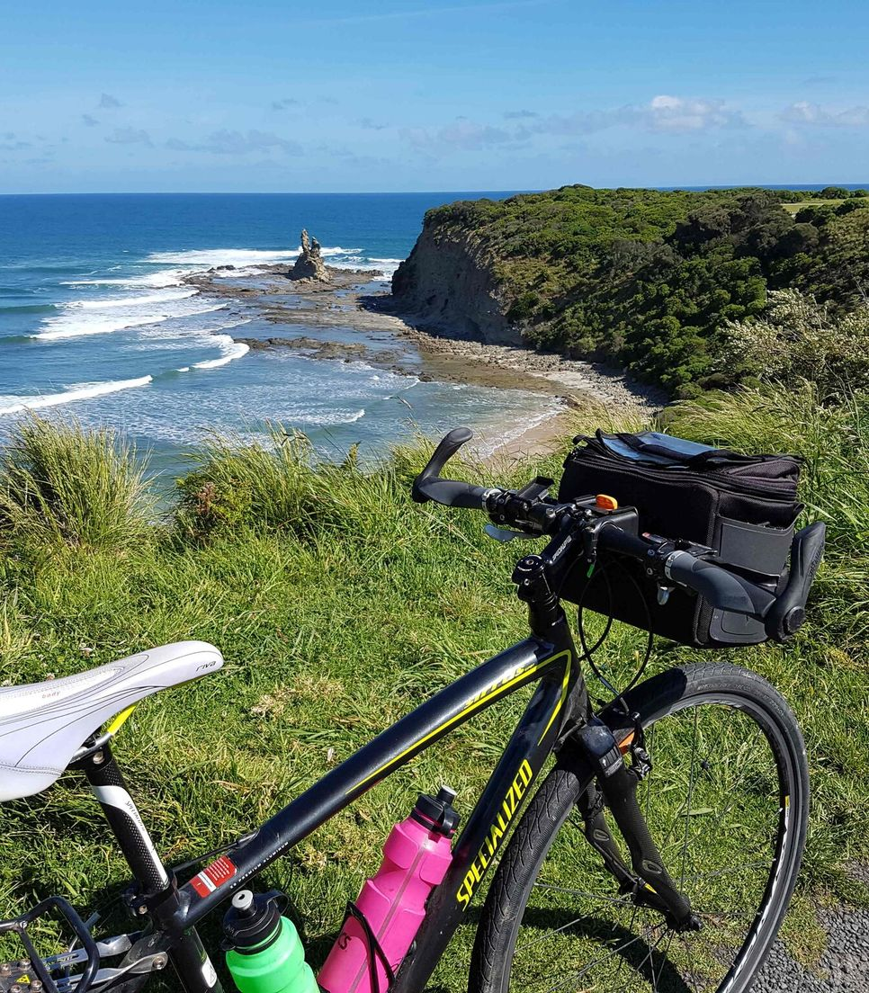 Soak up the glorious scenery as you cycle tour by the sea