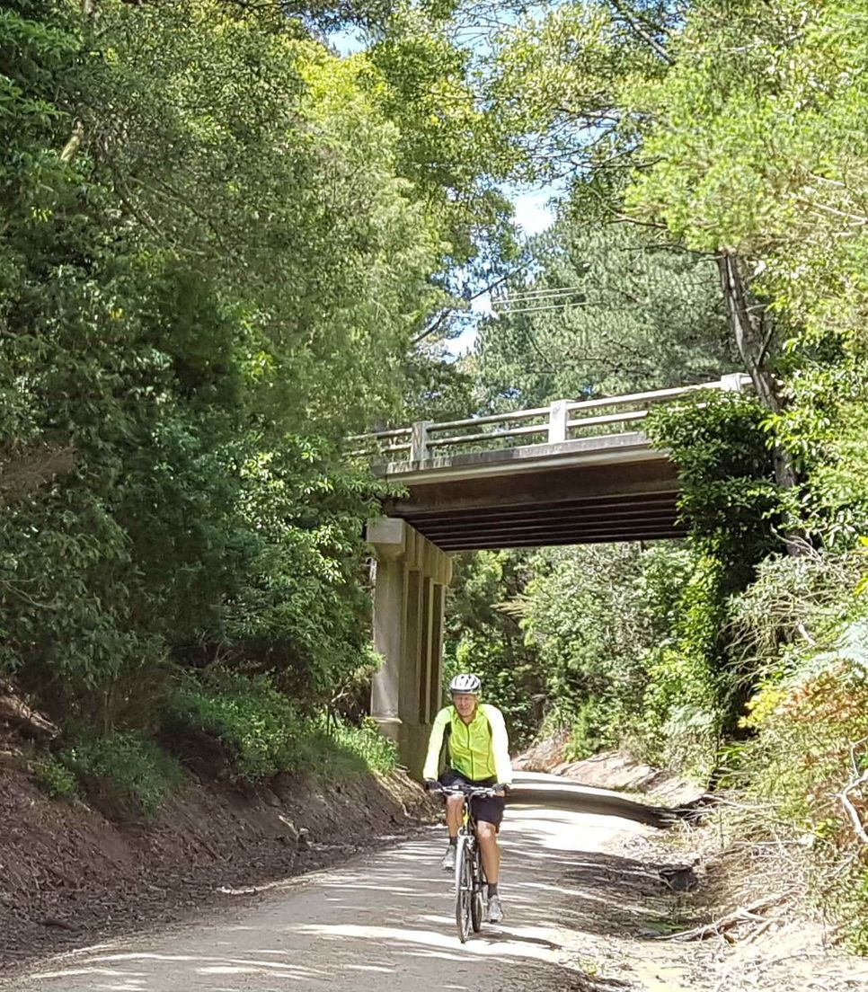 Enjoy the quiet and scenic cycling of the rail trail