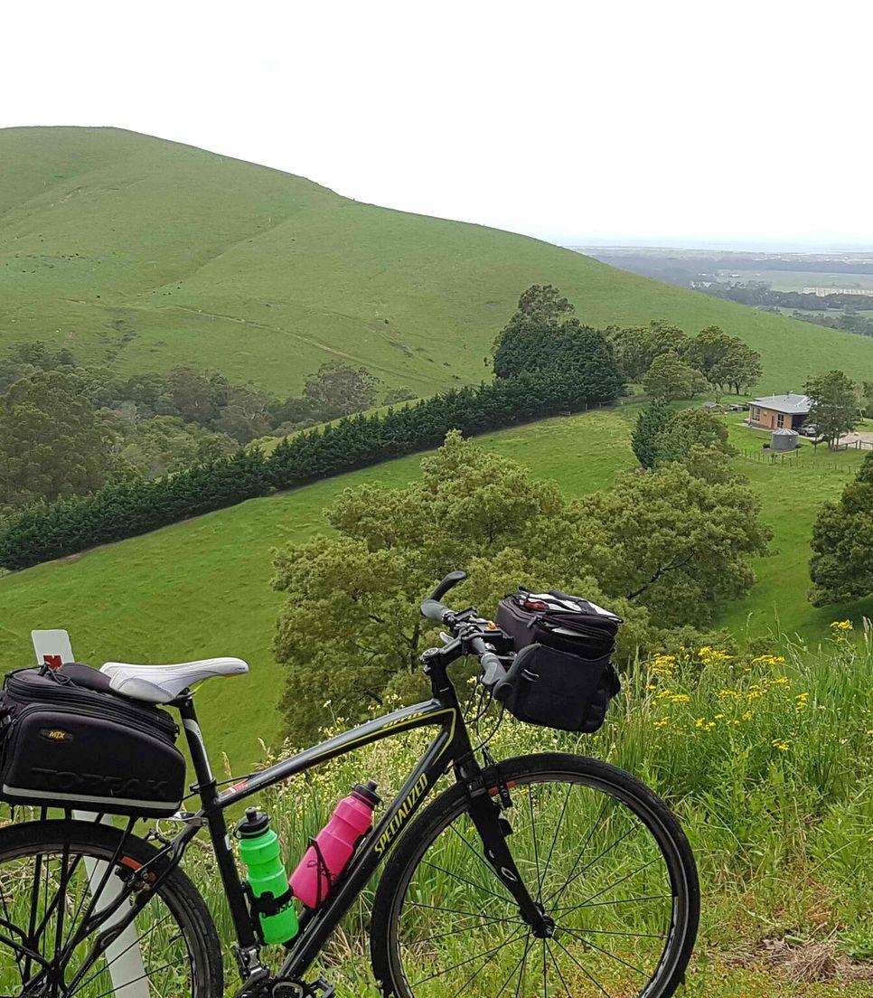 Pedal the route enjoying the far-reaching views