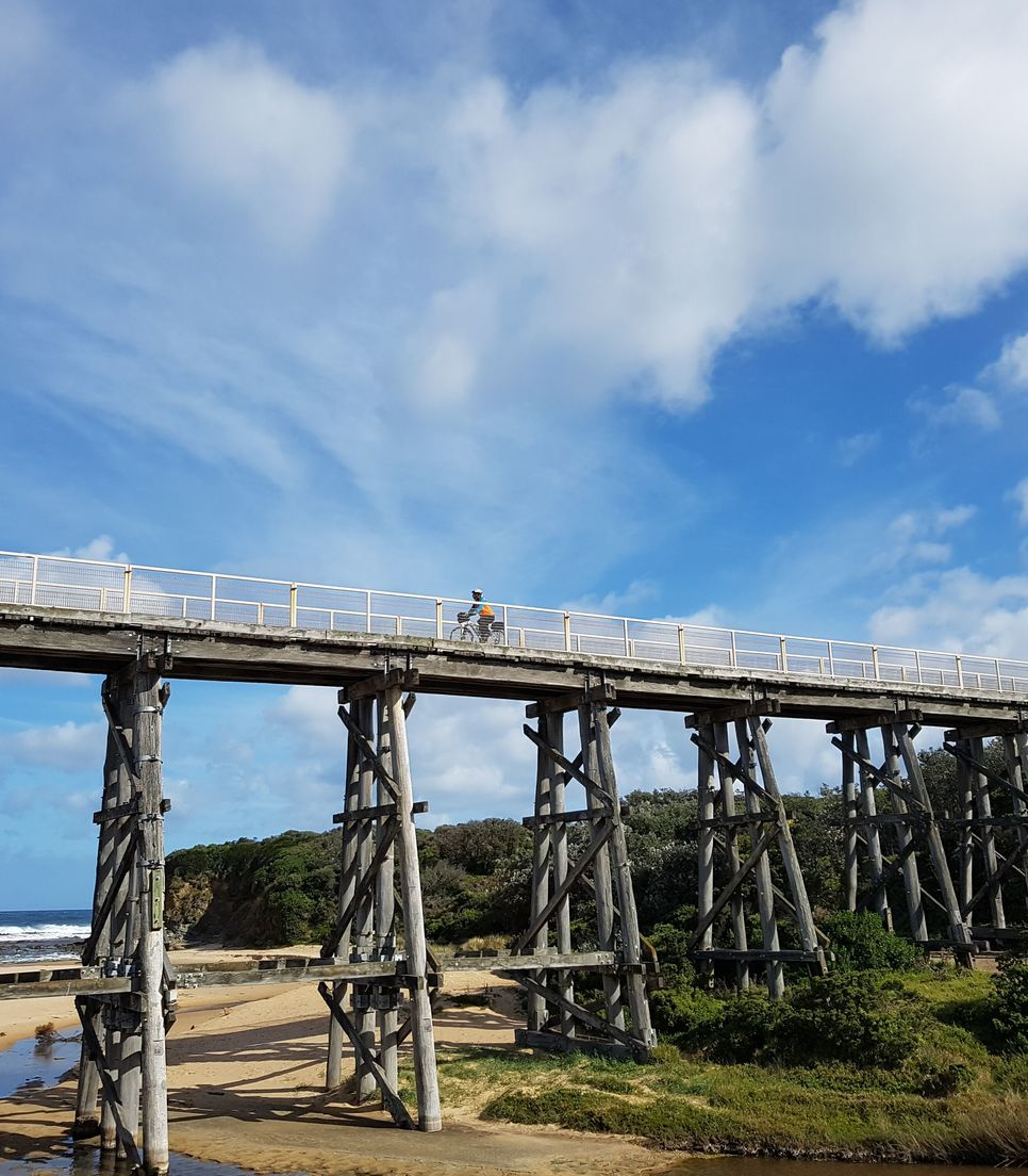 Enjoy cycling the epic trestle bridges of the rail trail