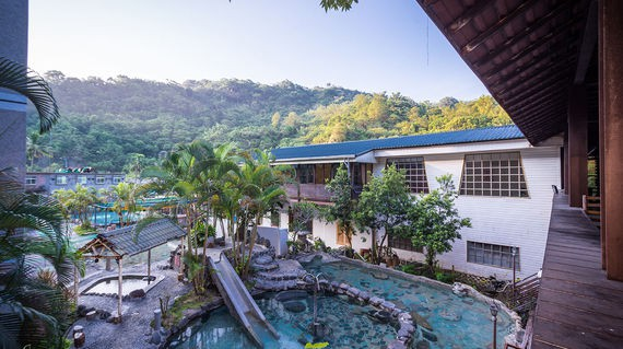 Unwind in the hot spring bath of your hotel