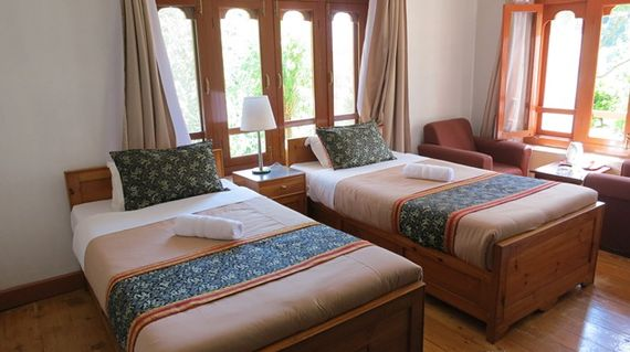 Recover from today's major hill challenge at this hotel with serene views of the Punakha Valley.