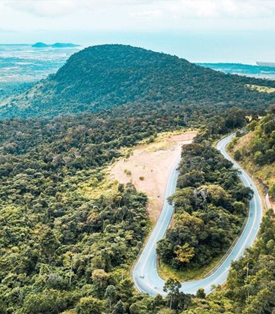 Take on the challenging ride up Bokor Mountain