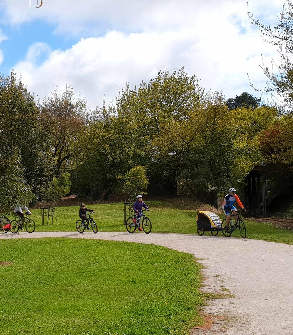 Take the whole family on a bike tour to explore the rail trails of Gippsland