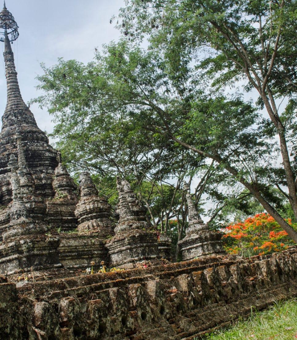 Visit ancient pagodas built as far back as 191 AD