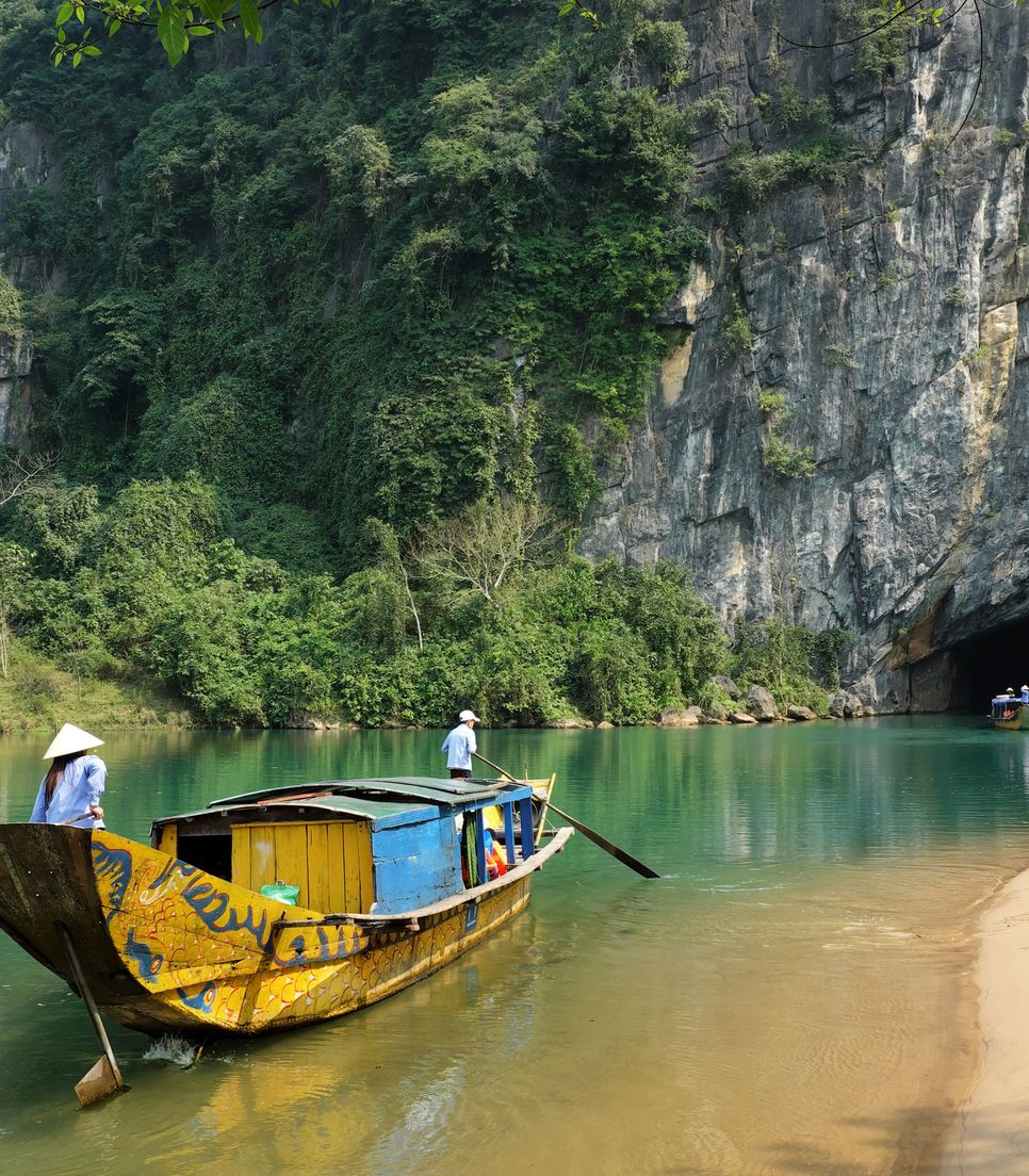 This natural wonder bears witness to a dark past - the Vietnam war. Despite of that grim era the cave will surely take your breath away with its majestic beauty