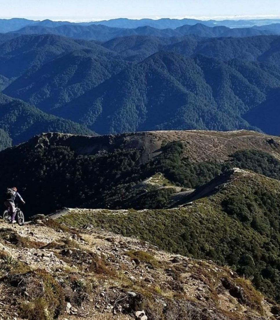 Mountain bike the New Zealand landscape