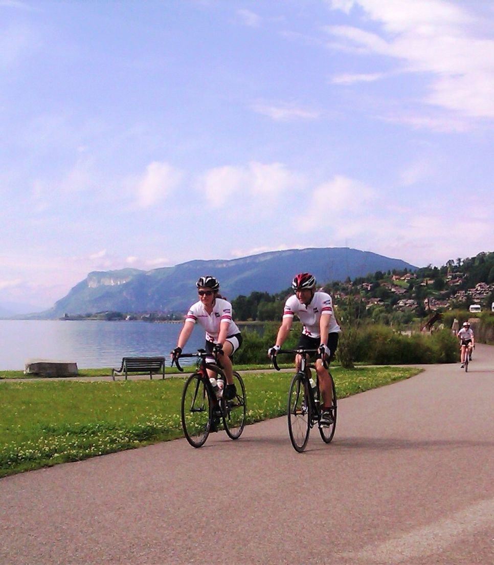 Take your time and appreciate the beauty of the lake as you pedal along