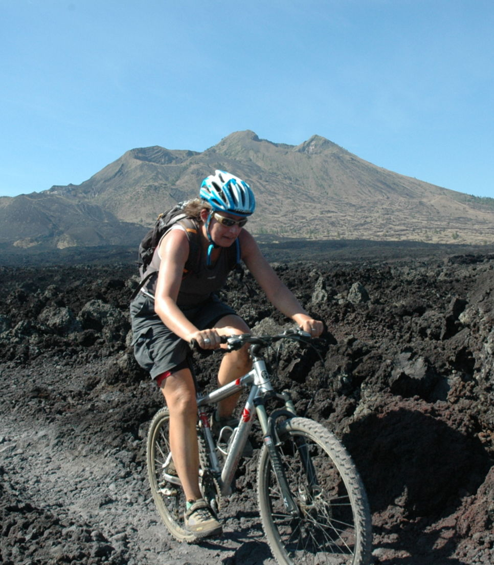 Go extreme and cycle the rim of a volcano