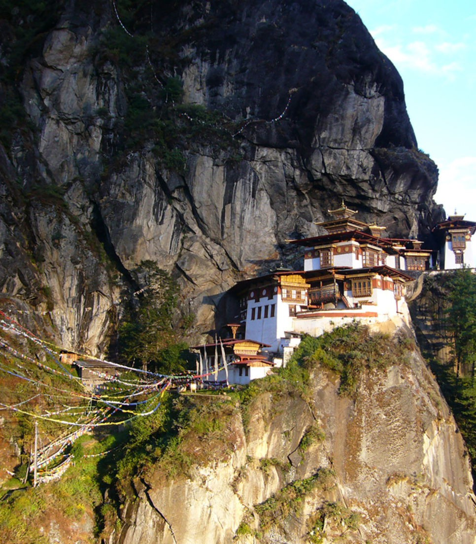 Marvel at dzongs that hang from cliffs and some built without nails