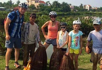 Family Christmas Cycling in Vietnam