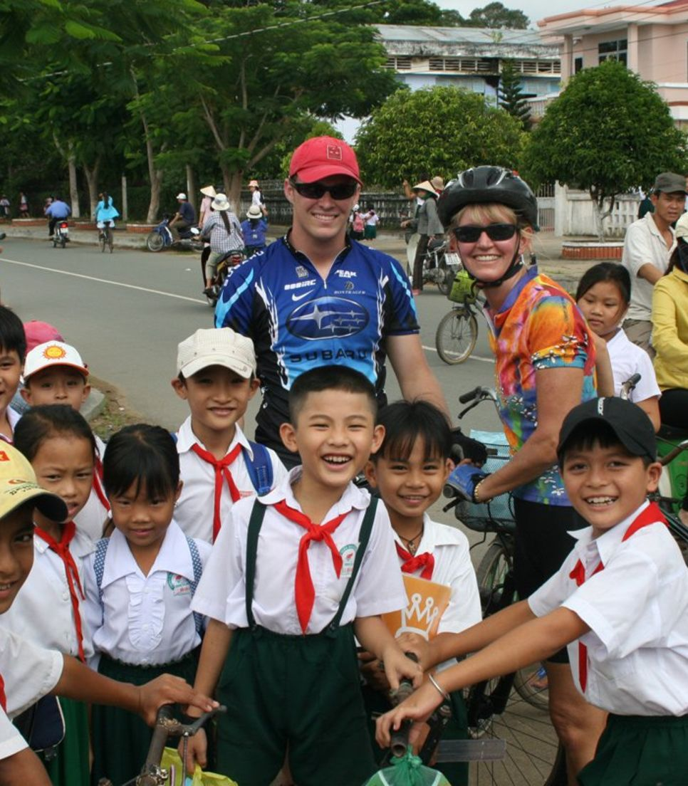 Off the beaten track cycling where you can meet with the locals