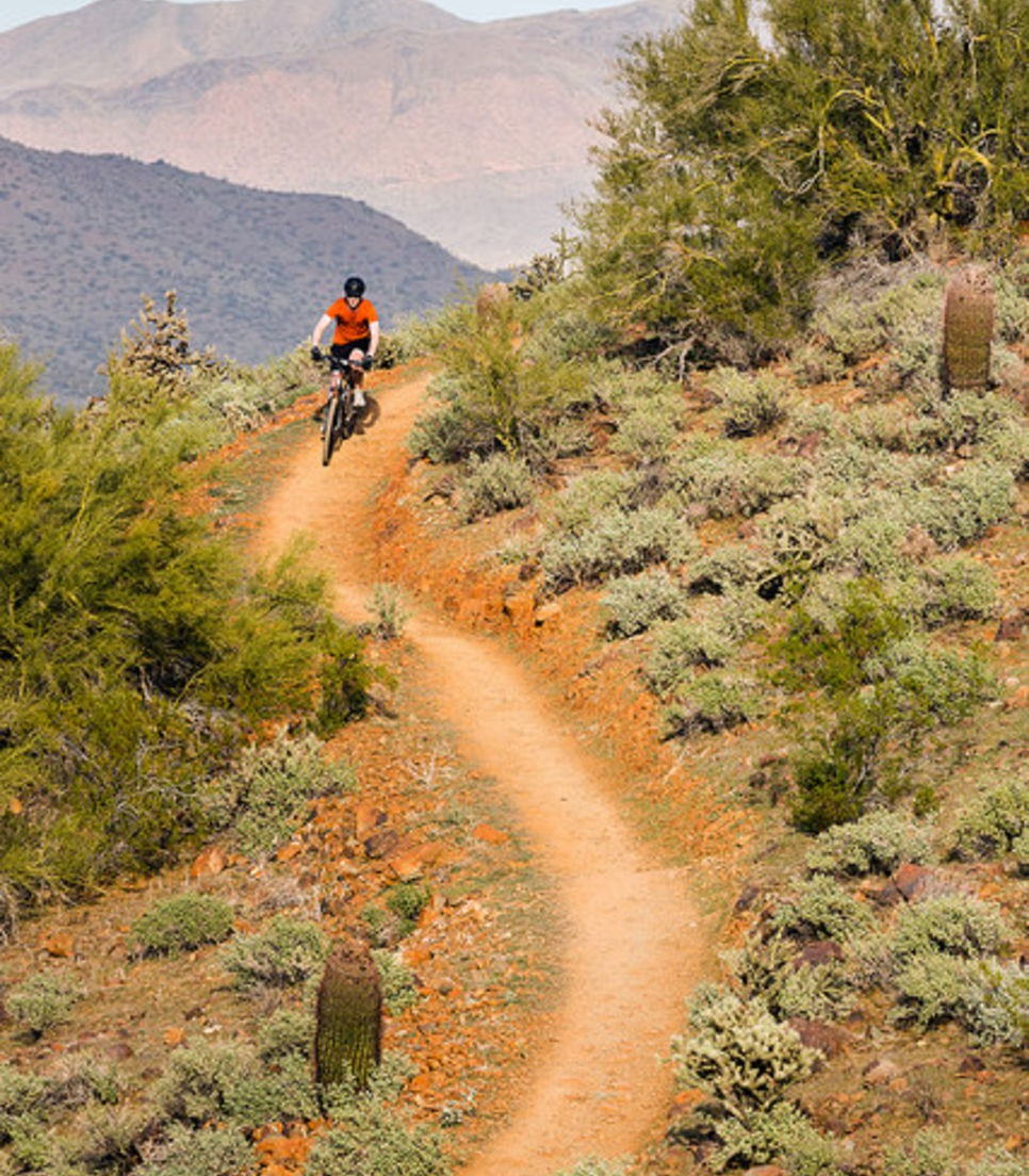Glide over this superb landscape as you cycle tour Arizona