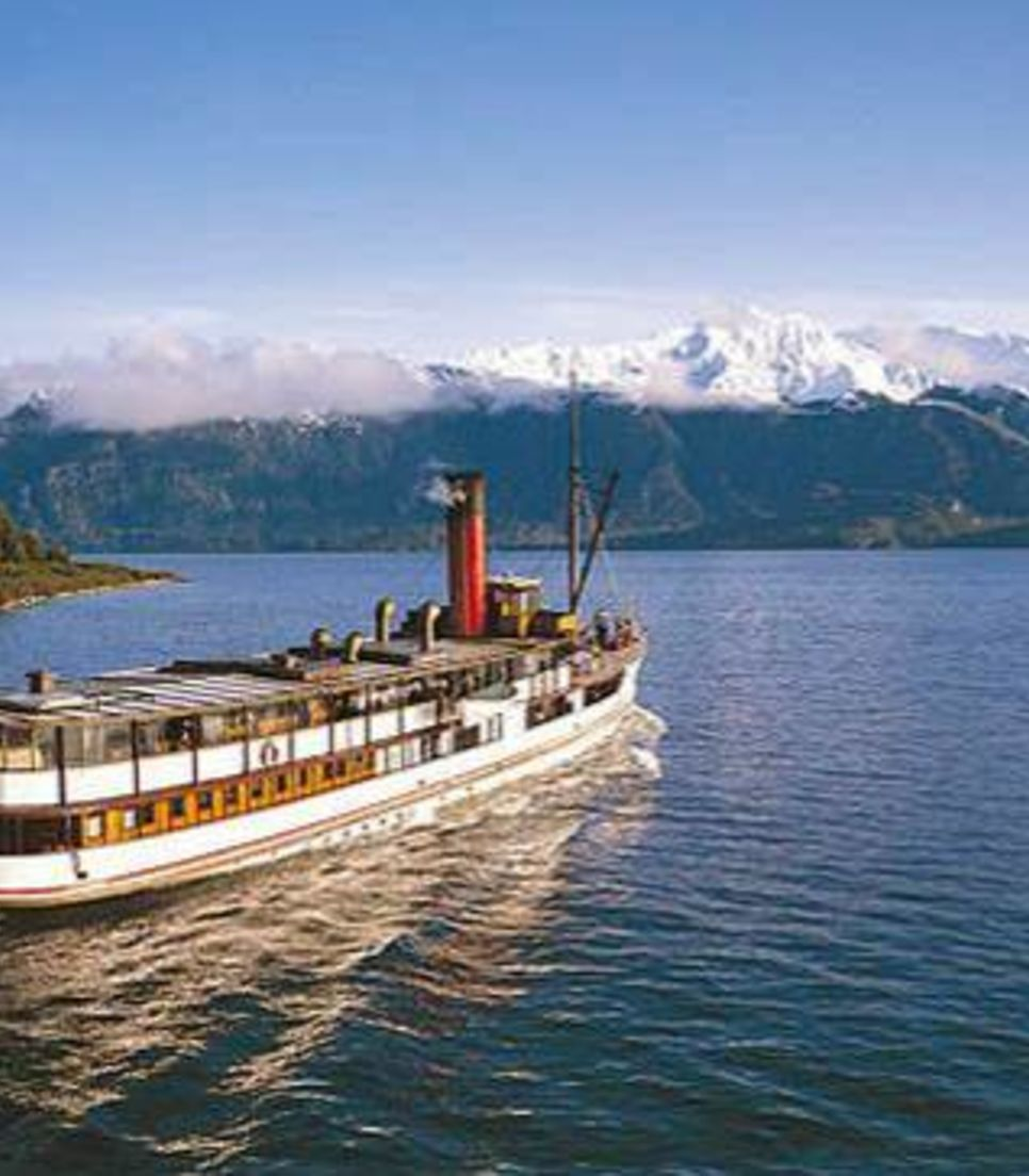 At the end of the trip take a memorable boat trip to the final destination of Queenstown