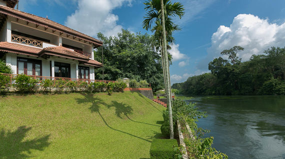 Unwind after a long day and tune in to nature at another riverside resort