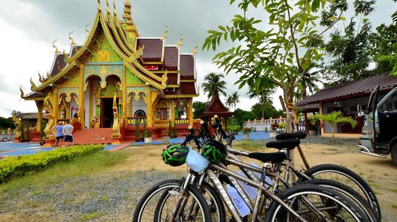 Stop and see the beautiful temples in this predominantly Buddhist part of the country