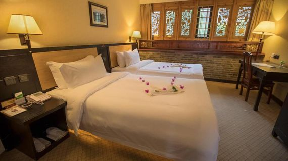 Sleep comfortably in the luxurious surroundings of this heritage hotel