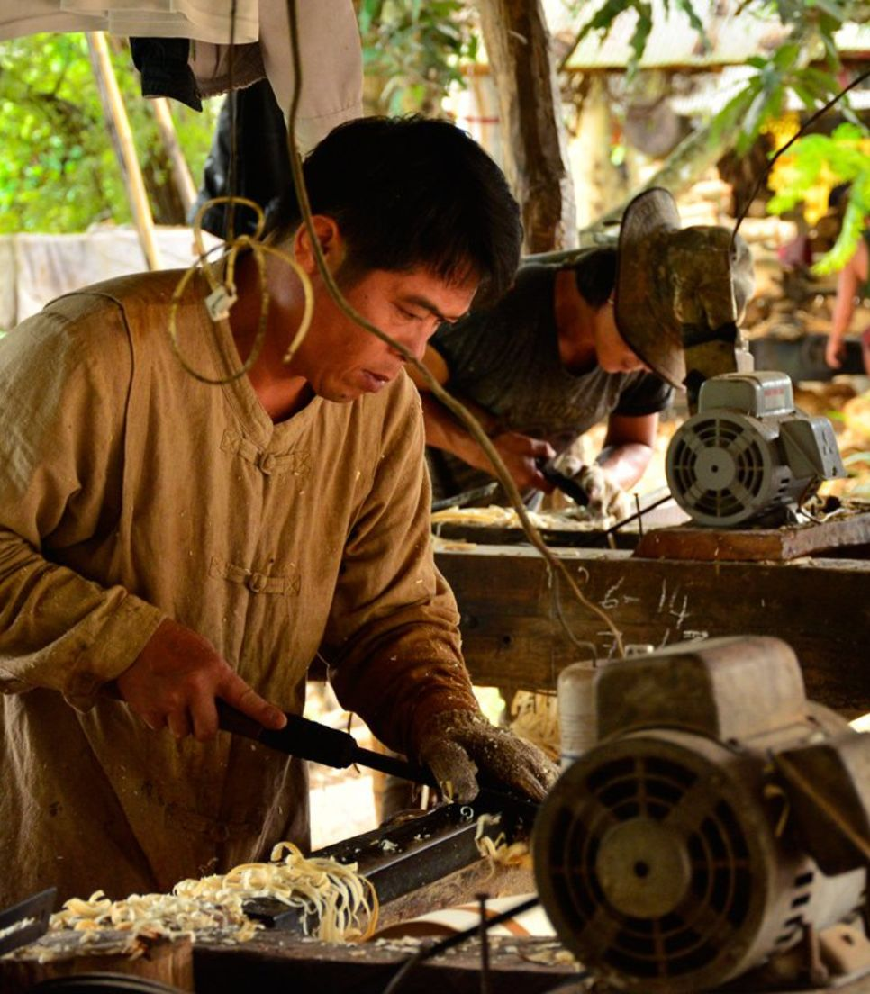 You'll have a chance to see the local artisans practicing their art in tin or aluminum