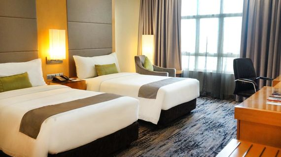 Start and finish your adventure in the plush accommodations of this property in the heart of Kuching City